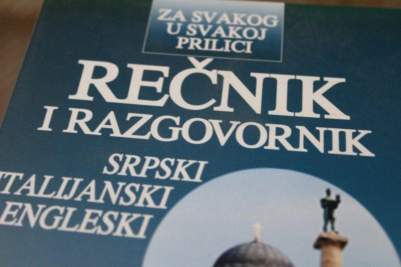 Rečnik i razgovornik: Srpski – italijanski – engleski