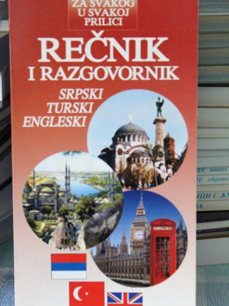 Rečnik i razgovornik: Srpski - turski- engleski