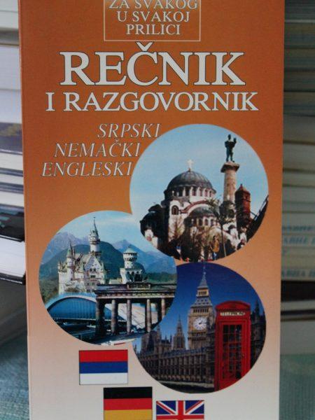 Rečnik i razgovornik: Srpski – nemački – engleski